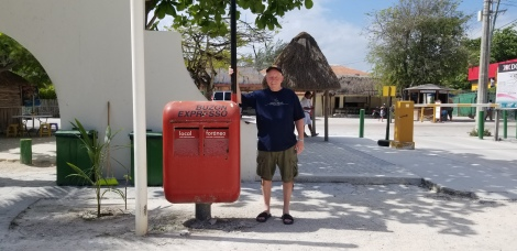 Canadian mailman, Mexican mail box